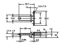 Ajtókapcsoló kulcs Omron D4BS-K2