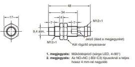 Induktív érzékelő Omron E2A-M12KN08-M1-B1