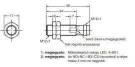 Induktív érzékelő Omron E2A-M12KS04-M1-B3