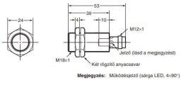 Induktív érzékelő Omron E2A-M18KS08-M1-B1