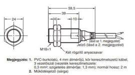 Induktív érzékelő Omron E2A-M18KS08-WP-B2 2M