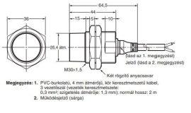 Induktív érzékelő Omron E2A-M30KN20-WP-B1 2M