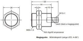 Induktív érzékelő Omron E2A-M30KS15-M1-B3