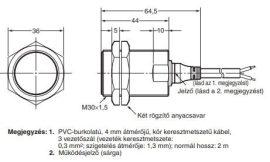 Induktív érzékelő Omron E2A-M30KS15-WP-B1 2M