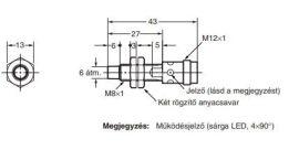 Induktív érzékelő Omron E2A-S08KN04-M1-B2