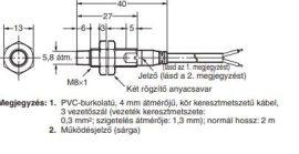 Induktív érzékelő Omron E2A-S08KN04-WP-B1 2M