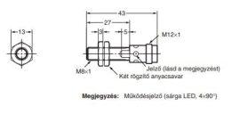 Induktív érzékelő Omron E2A-S08KS02-M1-B2