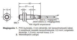 Induktív érzékelő Omron E2A-S08KS02-WP-D1 2M