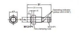 Induktív érzékelő Omron E2B-M12KN08-M1-B1