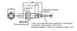 Induktív érzékelő Omron E2B-M12KN08-WP-B1 2M