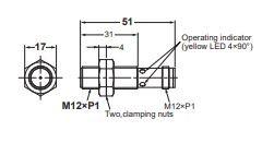 Induktív érzékelő Omron E2B-M12KS04-M1-B2