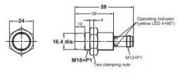Induktív érzékelő Omron E2B-M18KN16-M1-B1