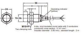 Induktív érzékelő Omron E2B-M18KN16-WP-B1 2M
