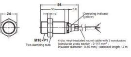 Induktív érzékelő Omron E2B-M18KS08-WP-B1 2M