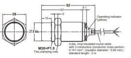 Induktív érzékelő Omron E2B-M30LN30-WP-B1 2M